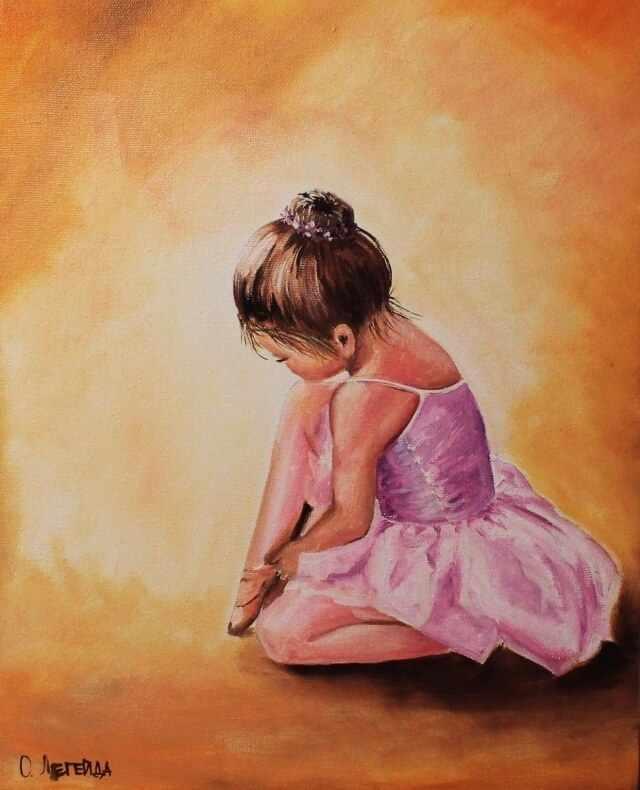 Алмазная вышивка le038 «Балерина малышка»