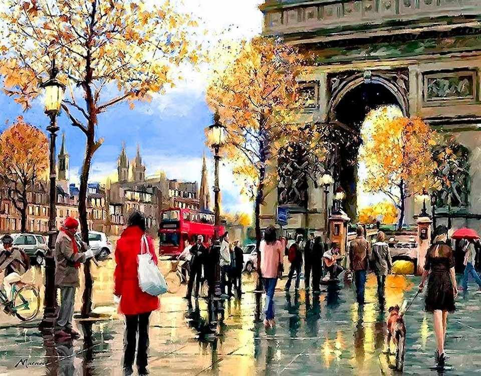 Алмазная вышивка lg113 «Мой любимый Париж»