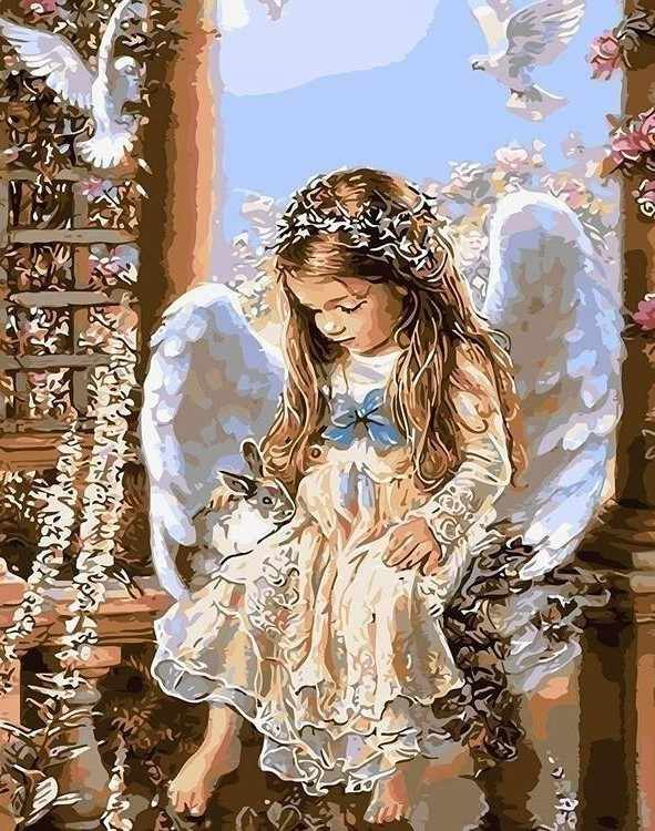 Алмазная вышивка lzg001 «Ждущий ангел (без подрамника)»