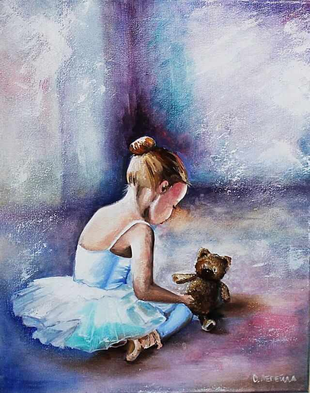 Алмазная вышивка le037 «Балерина. Первые шаги»