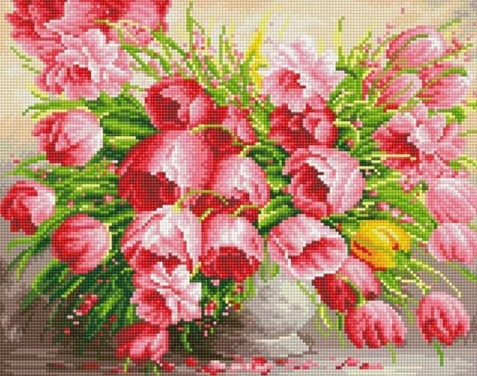 Алмазная вышивка lg111 «Очарование тюльпанов»