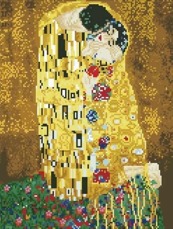 Алмазная вышивка lg053 «Густав Климт Поцелуй»