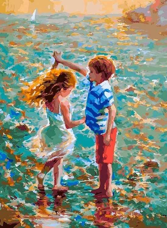 288-AS Танец на воде - раскраска (Белоснежка)