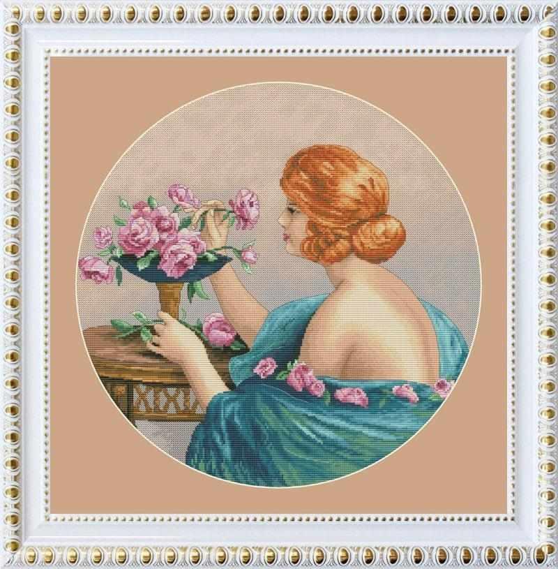 VN-112 Девушка с розами