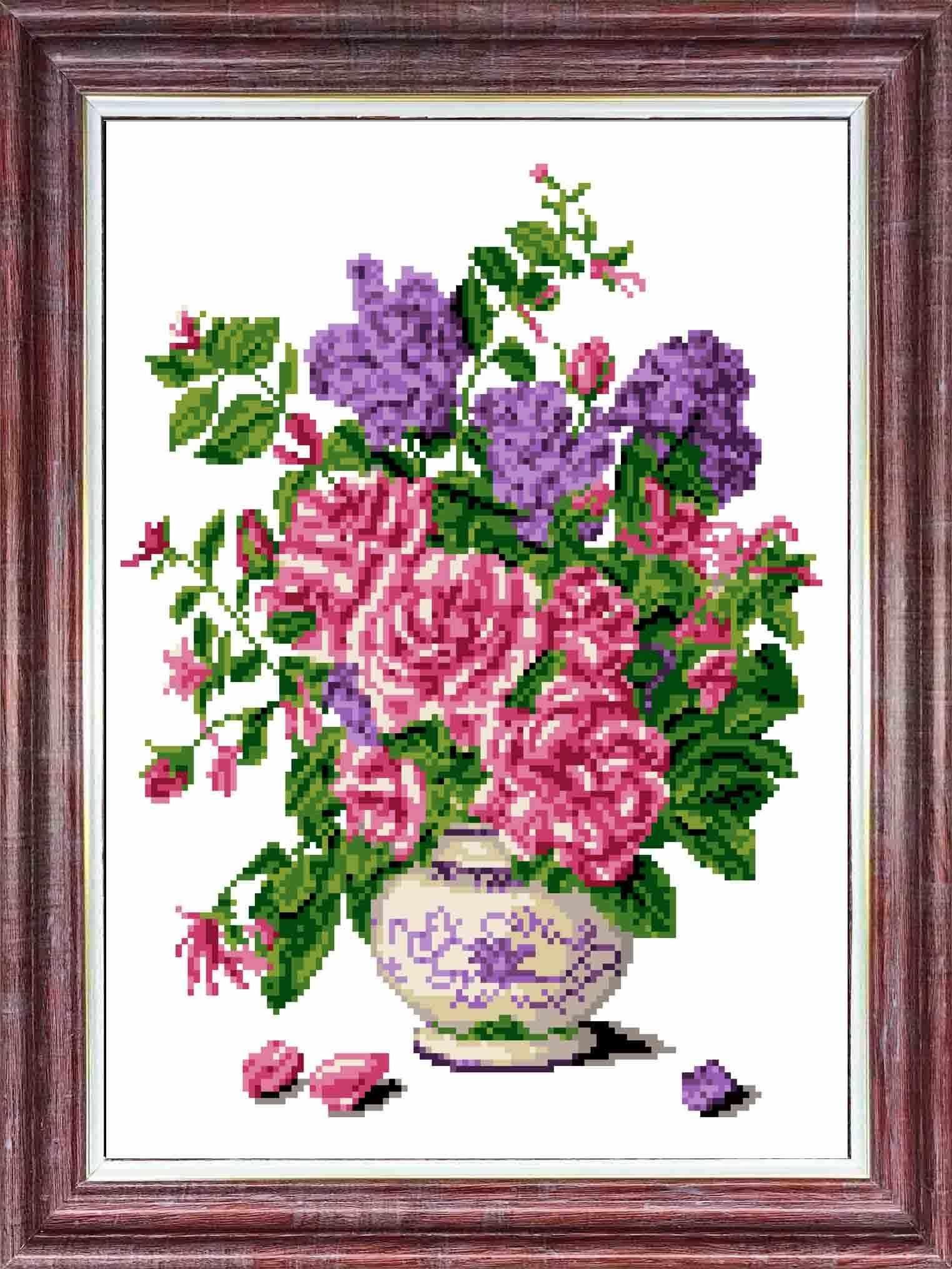 кк 054 Запах роз - схема (Каролинка)