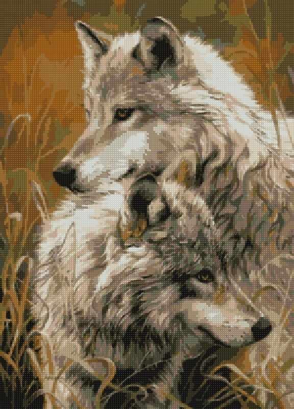 """Алмазная вышивка АМА2-024 """"Волчья верность"""""""