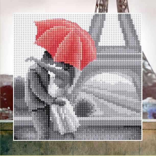 """Алмазная вышивка БСА25-053 """"Молодожены в Париже"""""""