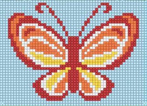 """Алмазная вышивка БСА5-022 """"Разноцветная бабочка"""""""