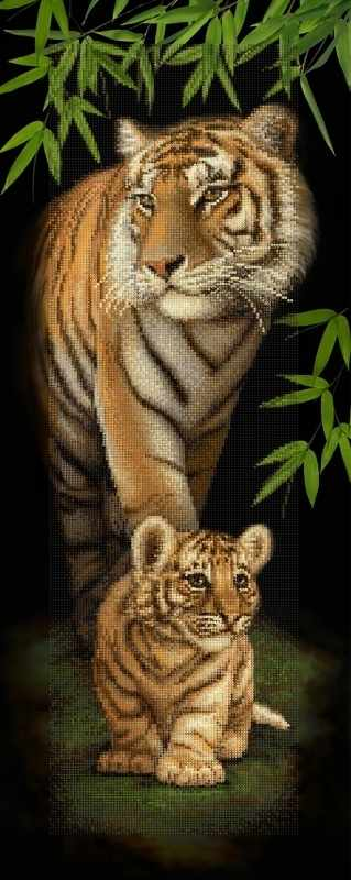 "Алмазная вышивка БС-022 ""Тигровое семейство"""