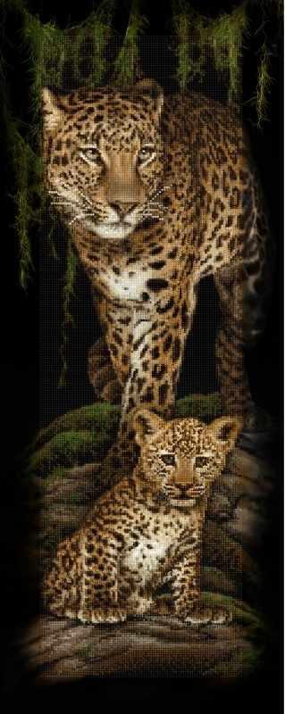 """Алмазная вышивка БС-024 """"Леопардовое семейство"""""""
