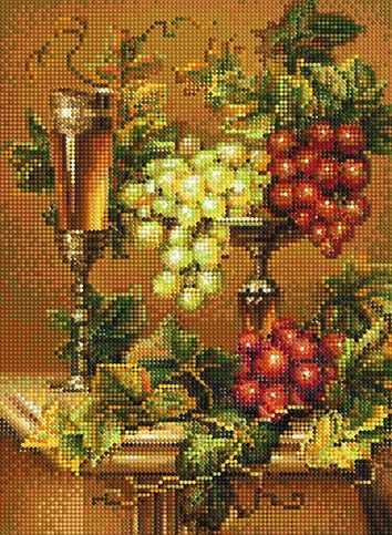 """Алмазная вышивка БСА3-134 """"Вино и виноград"""""""