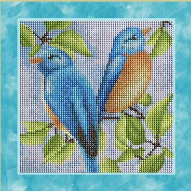 """Алмазная вышивка БСА25-048 """"Синие птички"""""""