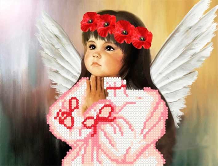 """Алмазная вышивка БСА4-005 """"Девочка ангелочек"""""""