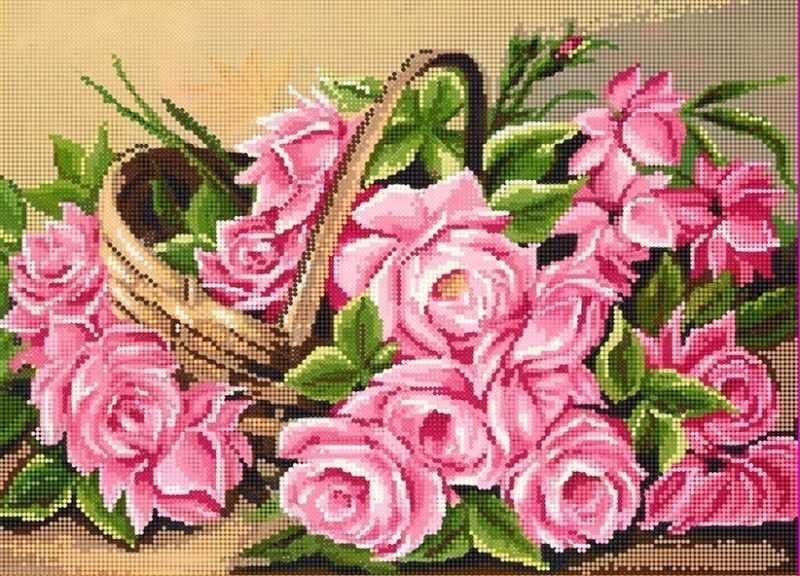 "Алмазная вышивка БСА2-021 ""Корзина роз"""