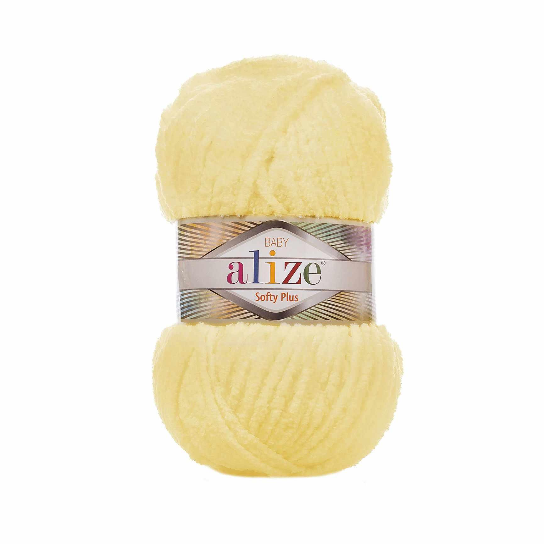 Пряжа Alize SOFTY PLUS Цвет.13 св.желтый