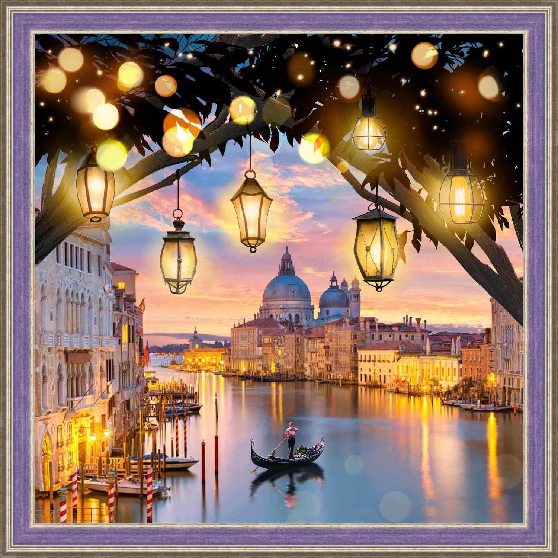 Алмазная вышивка Вечерняя Венеция (АЖ-1782) - картина стразами