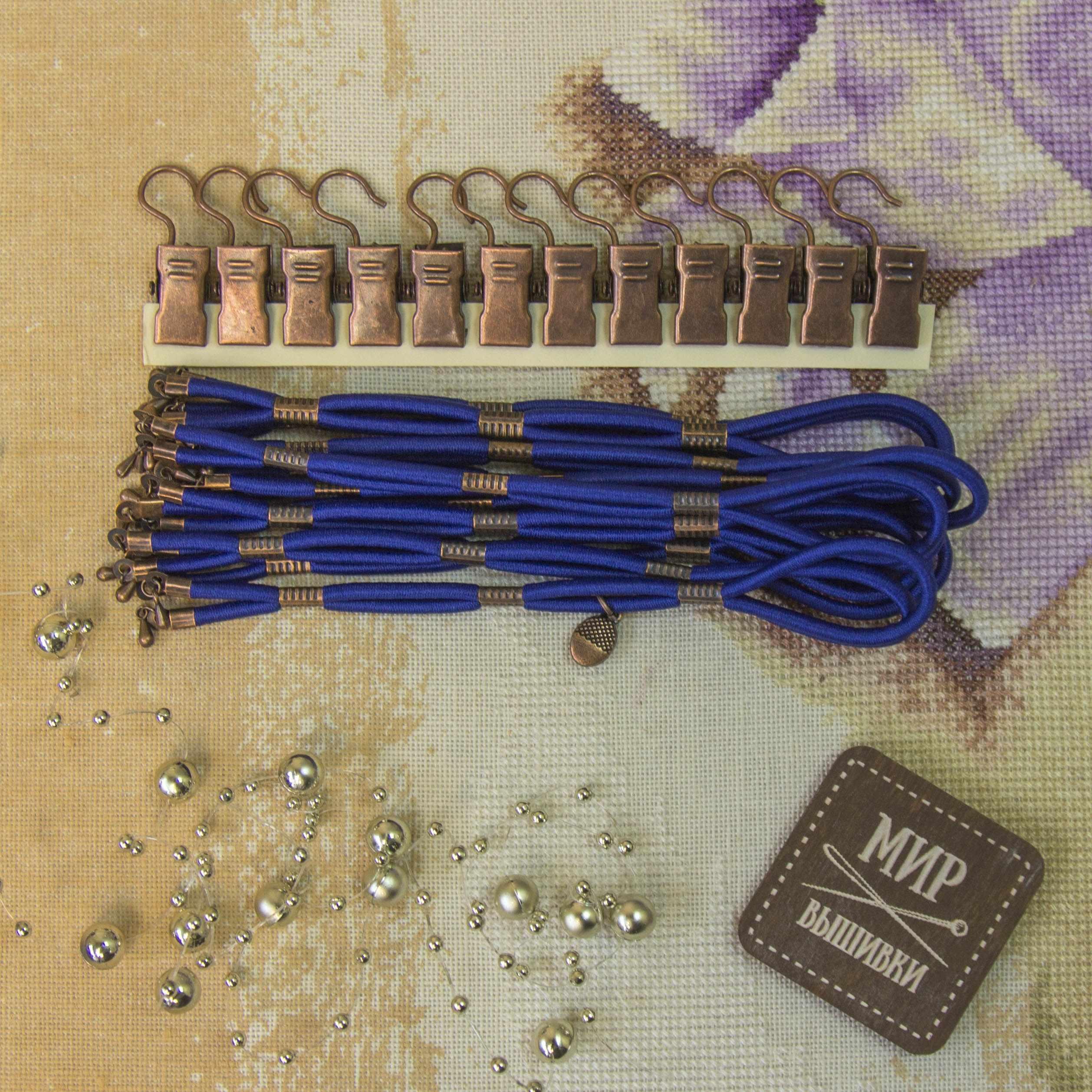 005102 Боковая натяжка плотная, индиго