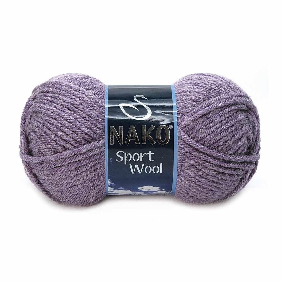 Пряжа Nako Sport Wool Цвет.23331 Т.Сирень