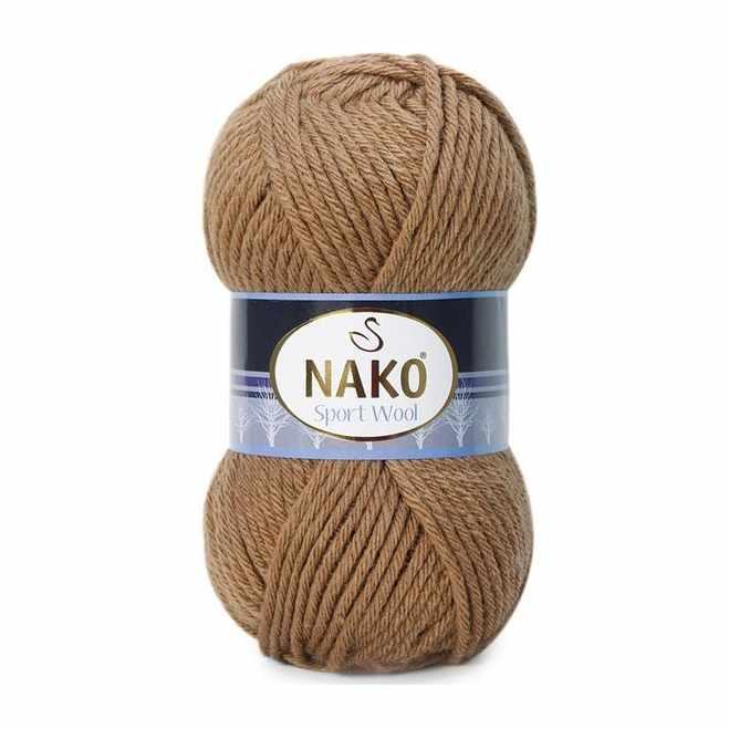 Пряжа Nako Sport Wool Цвет.10126 Верблюжий