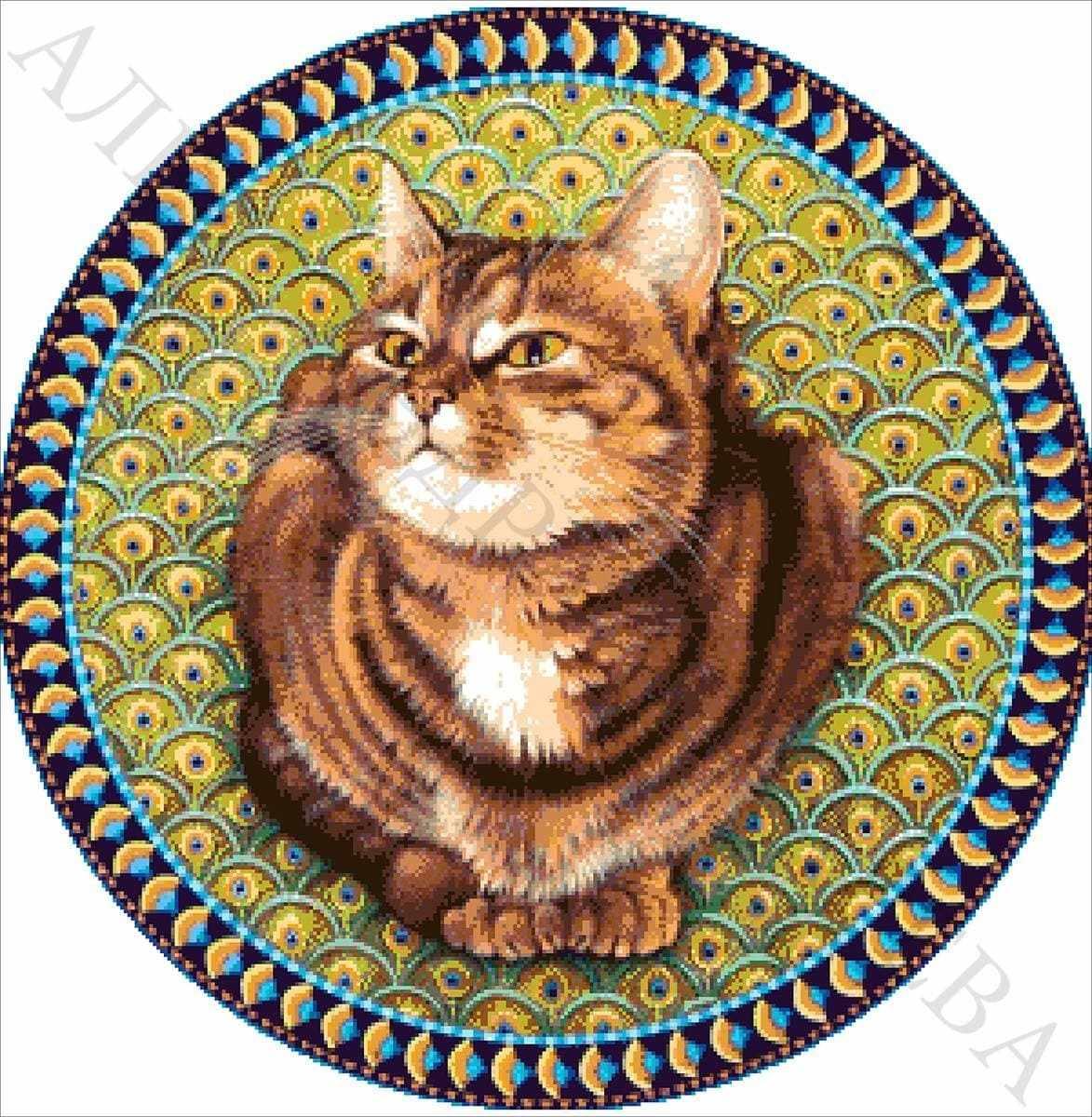 """41-3025-НТ """"Тарелка с кошкой"""" - набор для вышивания"""