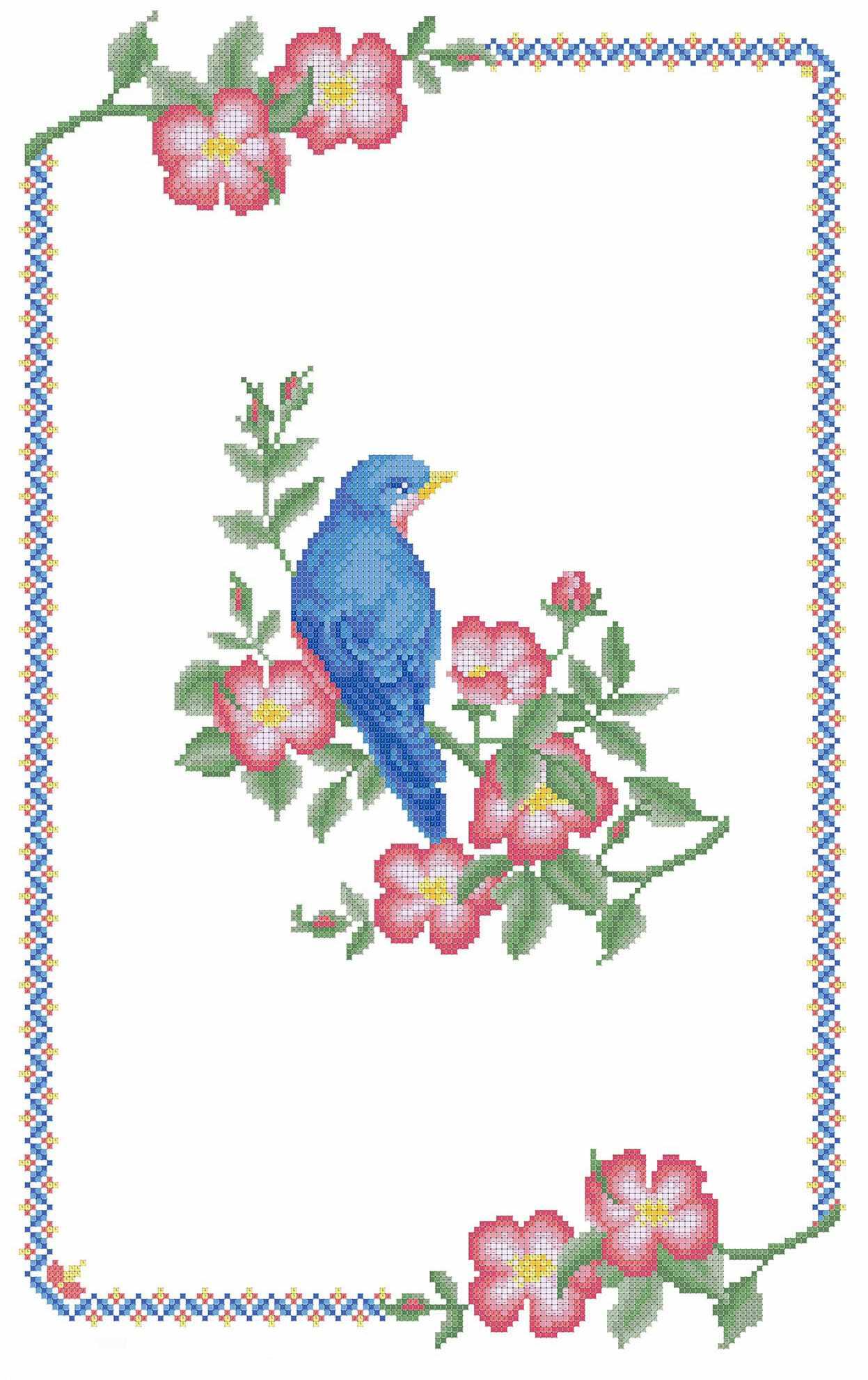 РД-003 Рушник. Птица на ветке