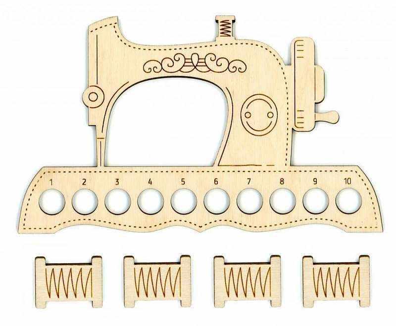 ОР-037 Органайзер для ниток Швейная машинка