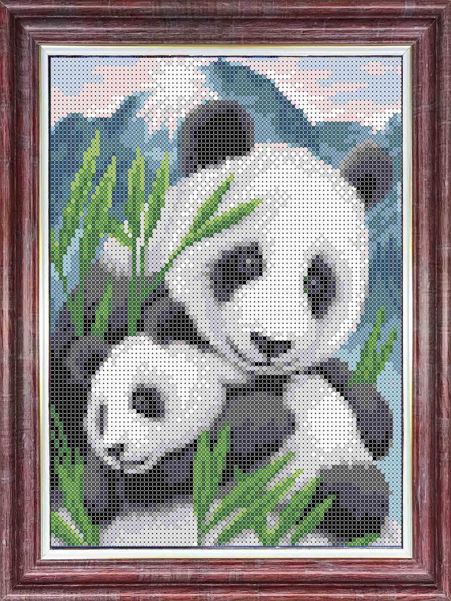 КБЖН(ч) 4035 Мамы и их зверята Панды - набор (Каролинка)