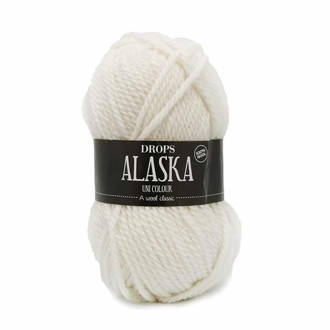 Пряжа DROPS Alaska Цвет.02 Off white/кремовый