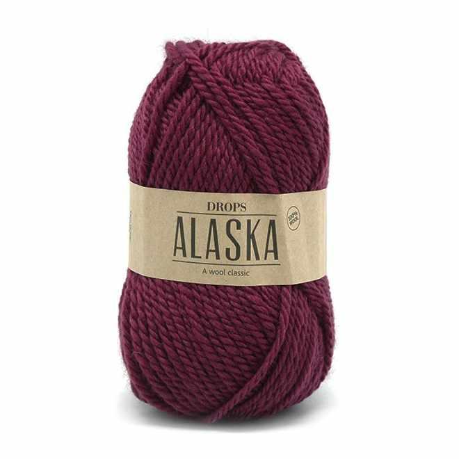 Пряжа DROPS Alaska Цвет.53 Ruby red/рубиново-красный