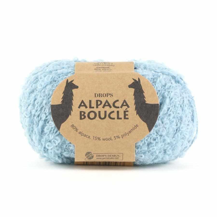 Пряжа DROPS Alpaca Boucle Цвет.7402 Light ocean green/св.зеленый