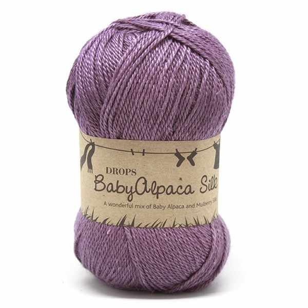 Пряжа DROPS Baby Alpaca Silk Цвет.4088 Heather/вереск