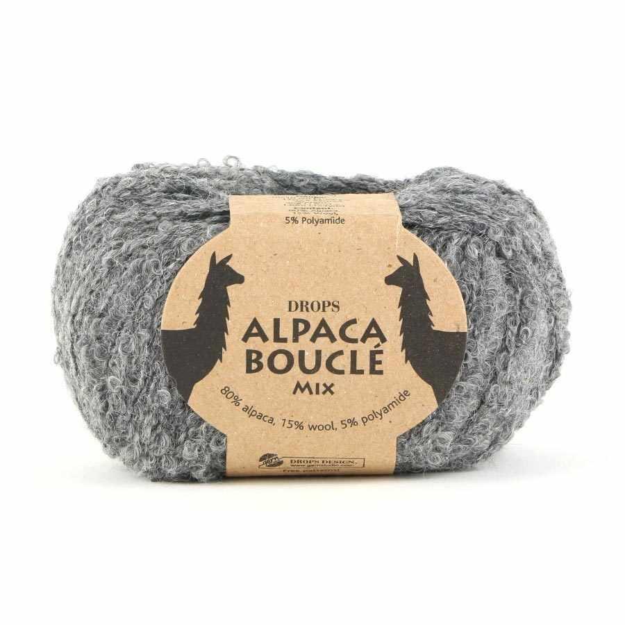 Пряжа DROPS Alpaca Boucle Цвет.0517m Grey/серый