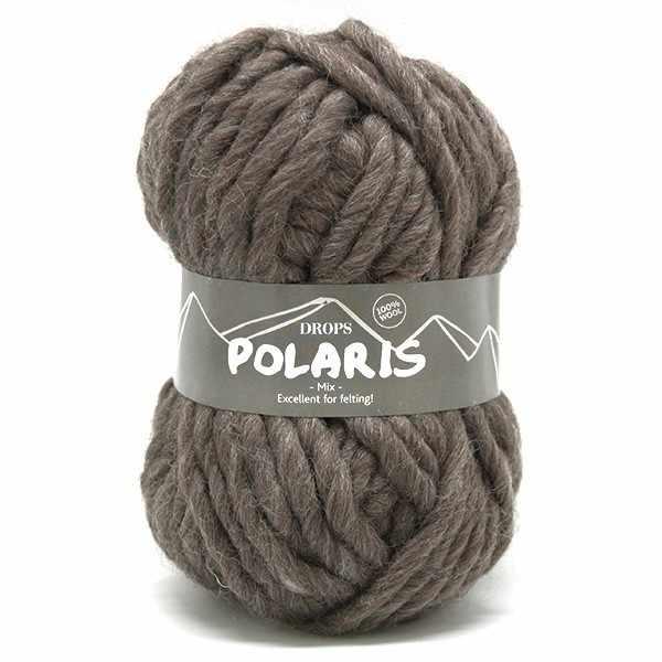 Пряжа DROPS Polaris Цвет.05m Taupe/маренго