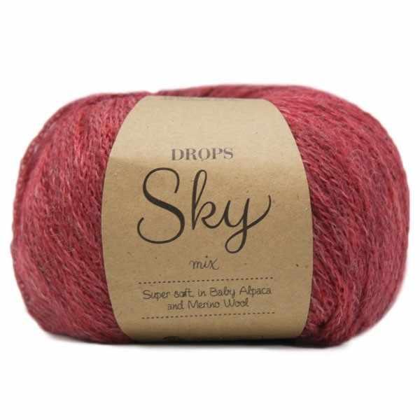 Пряжа DROPS Sky Цвет.09m Brick red/кирп.красный