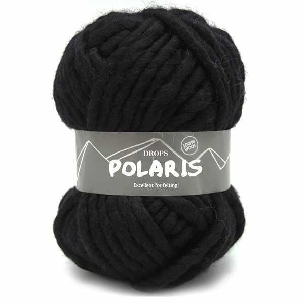 Пряжа DROPS Polaris Цвет.02 Black/черный