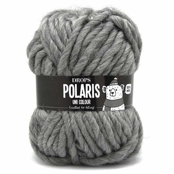 Пряжа DROPS Polaris Цвет.04 Medium grey/серый