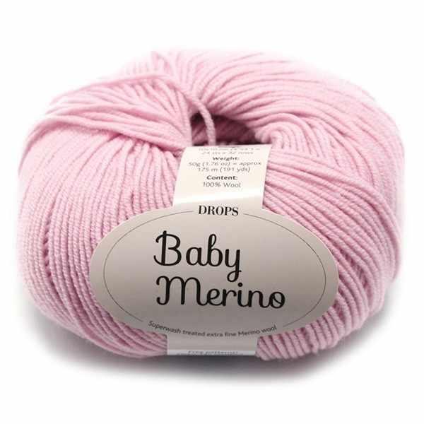 Пряжа DROPS Baby Merino Цвет.26 Light old pink/св.сух.роза