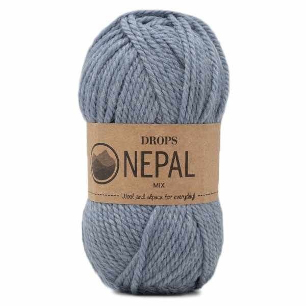 Пряжа DROPS Nepal Цвет.8913m Light blue