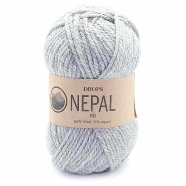 Пряжа DROPS Nepal Цвет.0501m Grey/серый