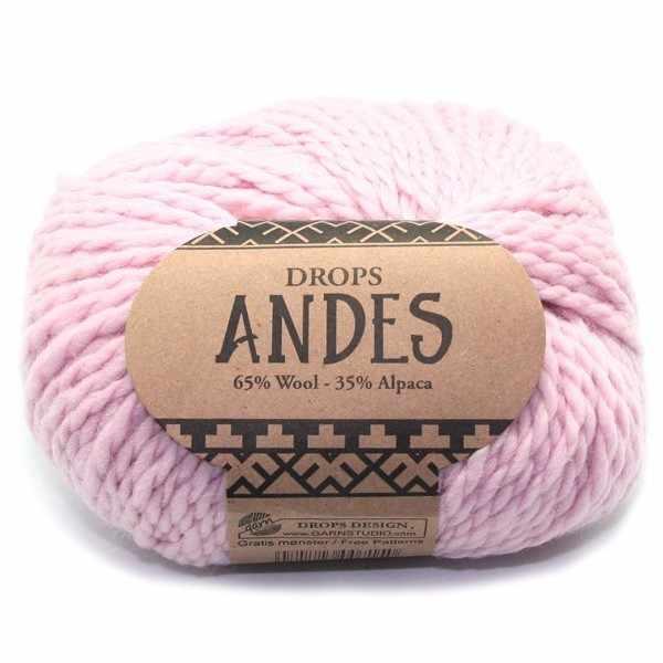 Пряжа DROPS Andes Цвет.3145 Powder pink/розовая пудра