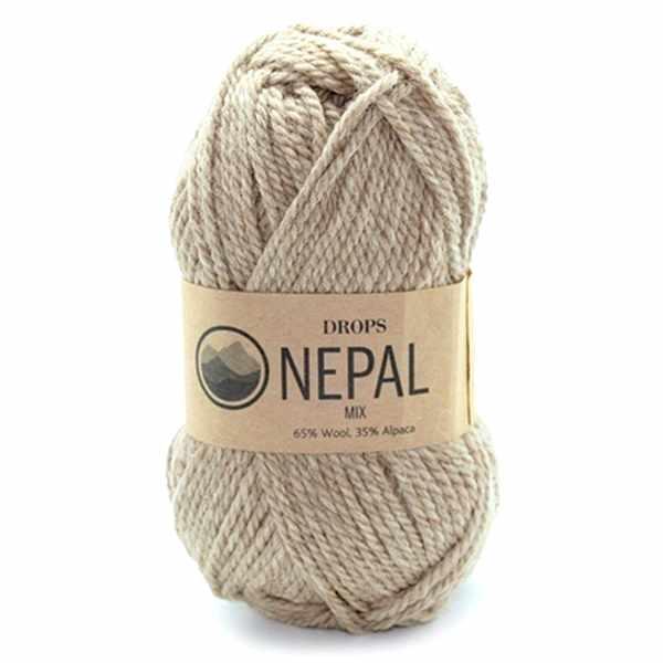 Пряжа DROPS Nepal Цвет.0300m Beige/беж