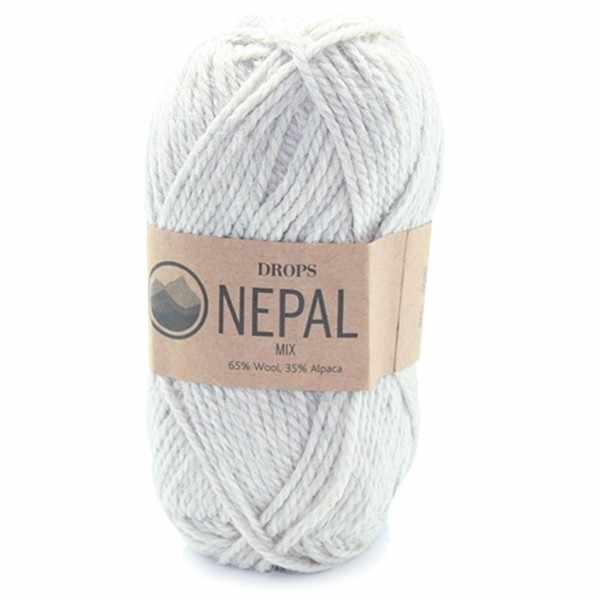 Пряжа DROPS Nepal Цвет.0500m Light grey/св.серый