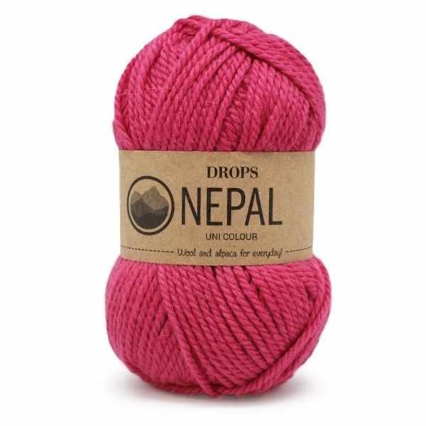 Пряжа DROPS Nepal Цвет.6273 Cerise/вишня