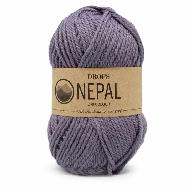 Пряжа DROPS Nepal Цвет.4311 Grey/purple
