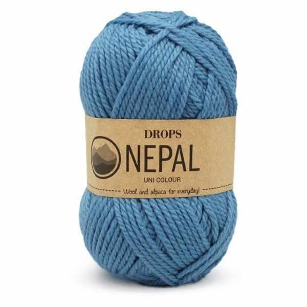 Пряжа DROPS Nepal Цвет.8783 Forget me not