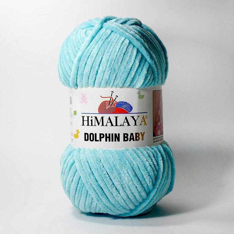 Пряжа Himalaya  Dolphin Baby Цвет.80335 Св.бирюза