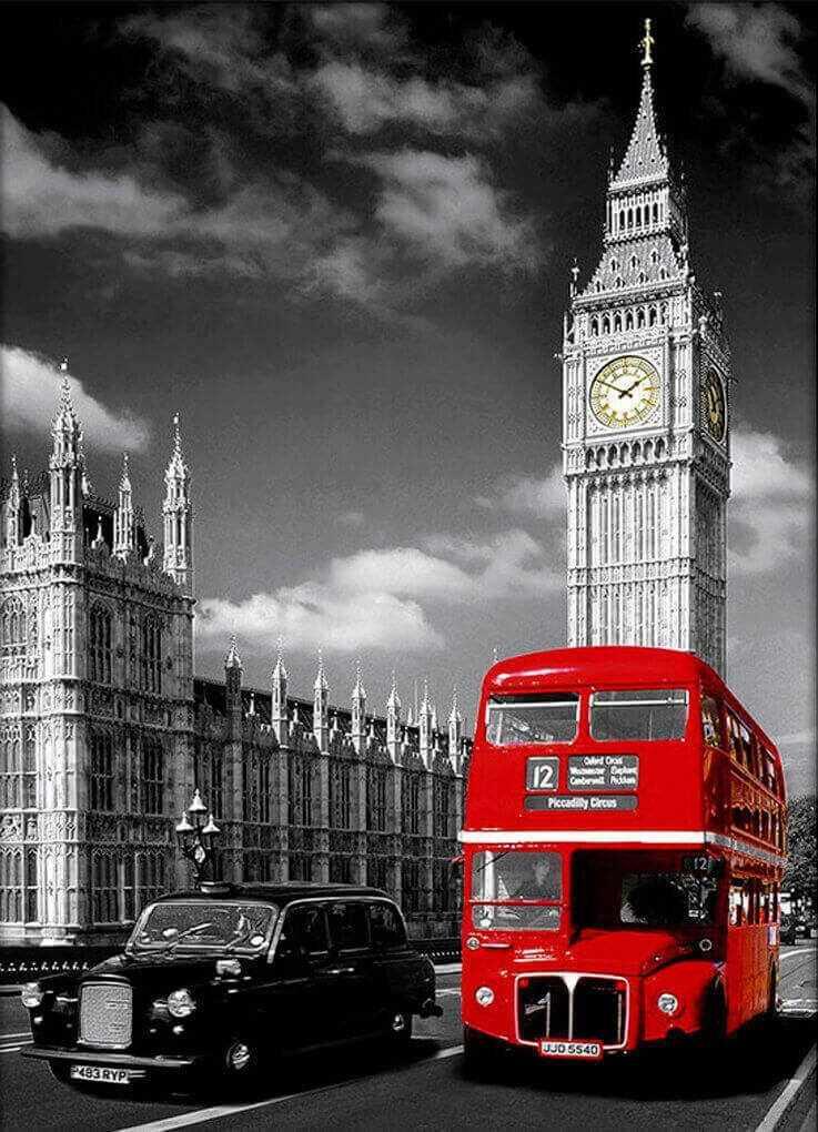 Алмазная вышивка le092 «Символы Лондона»