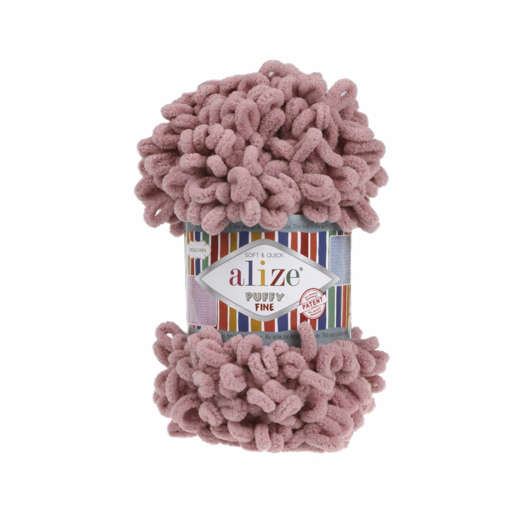 Пряжа Alize Puffy Fine Цвет.295 розовый