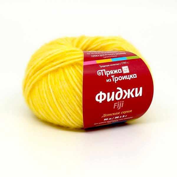 Пряжа Троицкая Фиджи Цвет.8361 Меланж желтый
