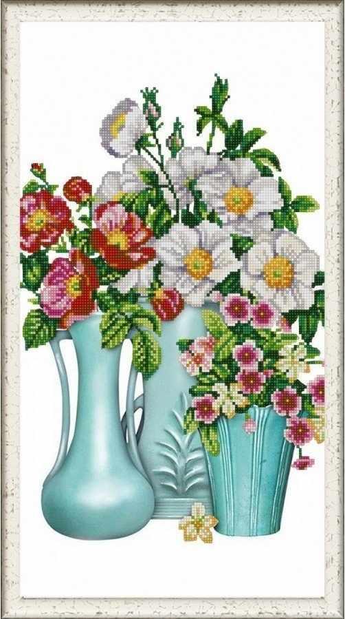 """НИК 1282 """"Лето душистое"""" - рисунок на ткани"""